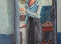 Autoportrait-au-miroir-en-train-de-peindre,-Copyright-ADIN,-photo-Olivier-Goulet