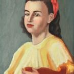 Jeune-fille-a-la-robe-jaune-et-au-bandeau-rouge,-Copyright-ADIN,-photo-Olivier-Goulet